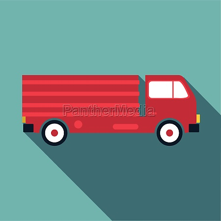 truck icon flat style