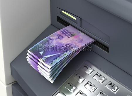 withdrawal swiss franc