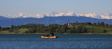 idyllic landscape in zurich canton lake