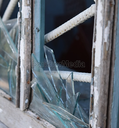 windows with the broken glasses