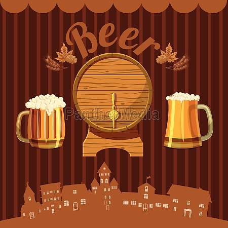 brewery concept cartoon style