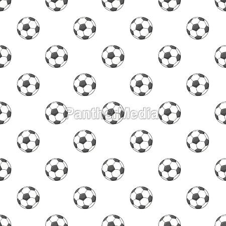 soccer ball pattern cartoon style