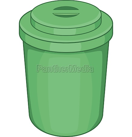 green plastic cup icon cartoon style