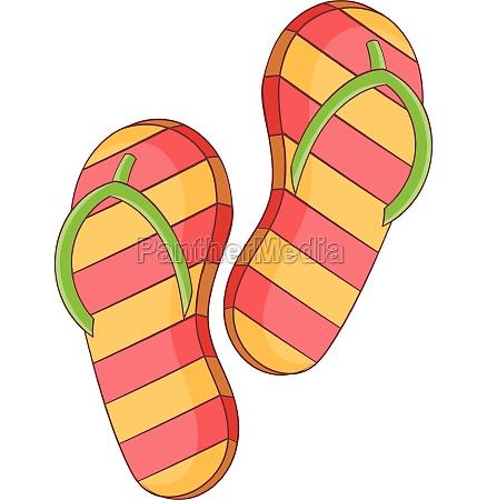slippers icon cartoon style