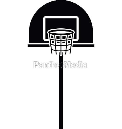 street basketball hoop icon simple style