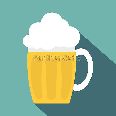 glass mug of beer icon flat