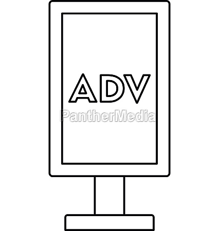 advertising stand icon outline style