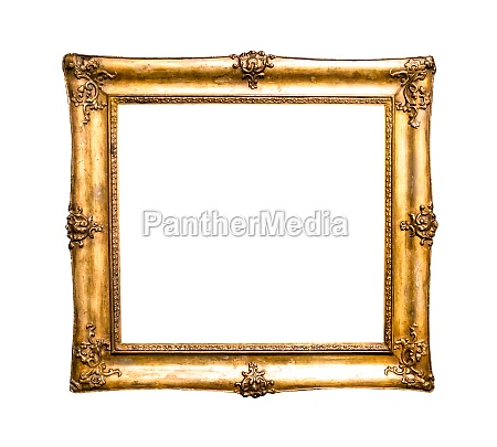 old decorated wide golden picture frame