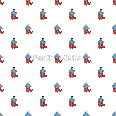 superhero standing pattern cartoon style