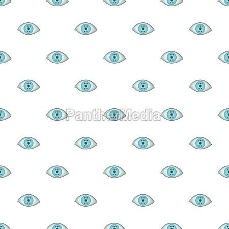 eye pattern cartoon style