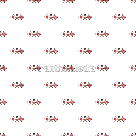 uk and japan flags crossed pattern