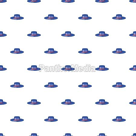 hat pattern cartoon style