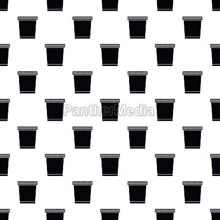garbage can pattern simple style