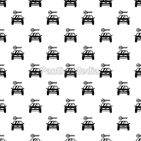 car from impound yard pattern simple
