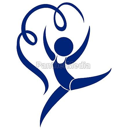 sport icon of athelte doing gymnastics
