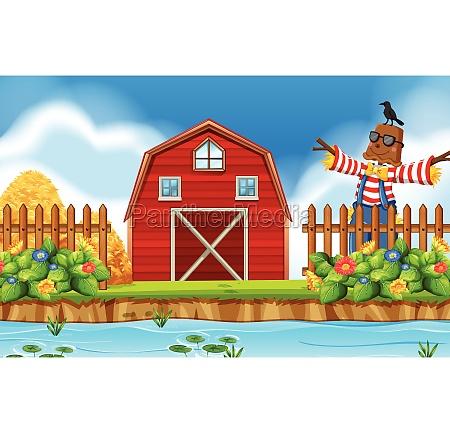 a riral farmland landscape