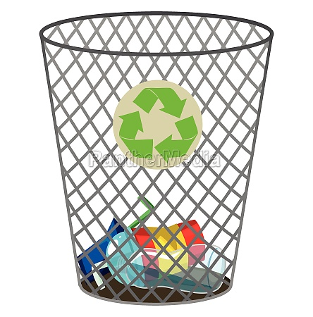 trashcan for recycle waste