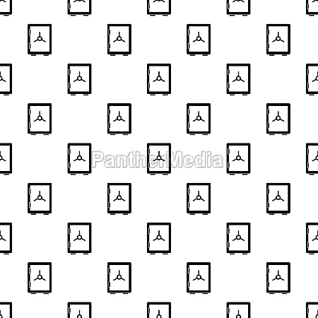safety deposit box pattern simple style