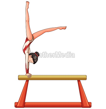 woman athlete on balance beam