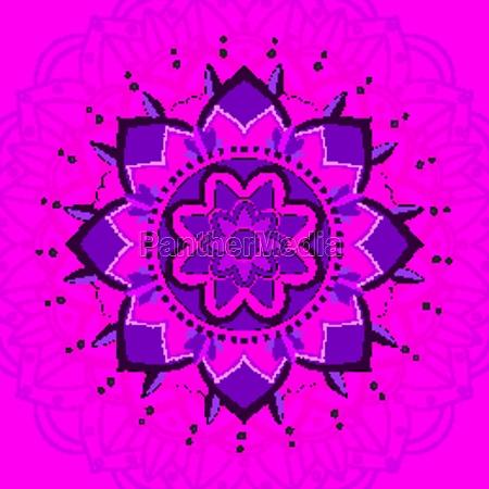 mandala pattern on pink background