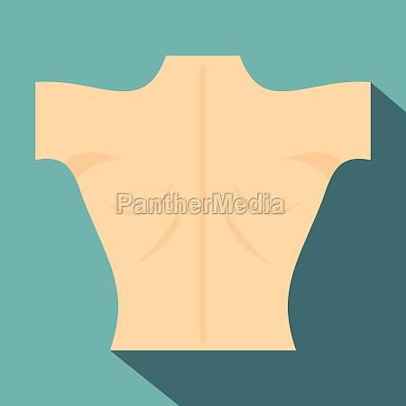 naked human back icon flat style