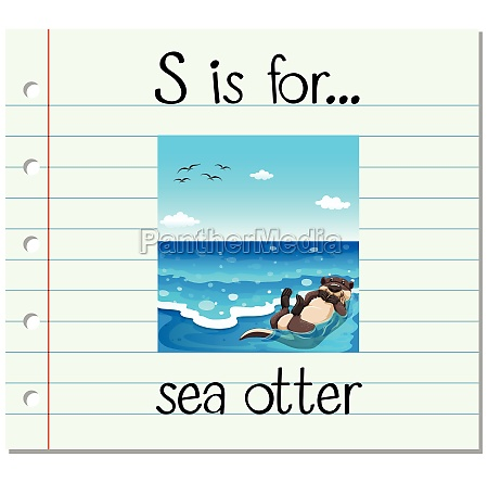 flashcard letter s is for sea