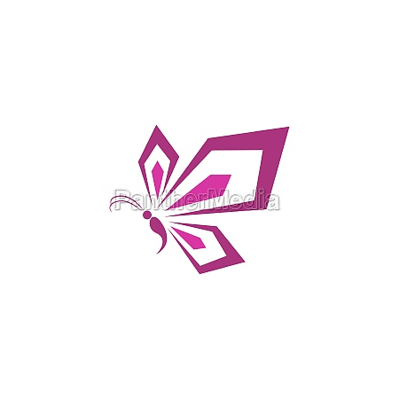 butterfly icon logo design concept template