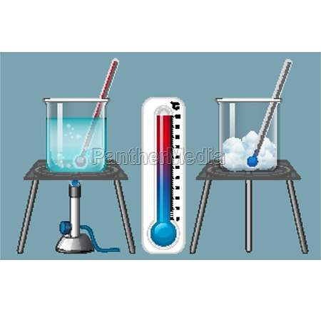thermometer measuring cold and heat