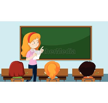 teacher teaching a class