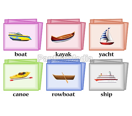 water transportations on flashcards