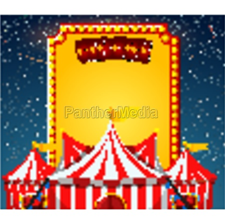 circus sign template with circus tents