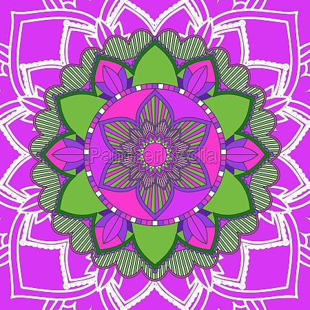 mandala patterns on pink background