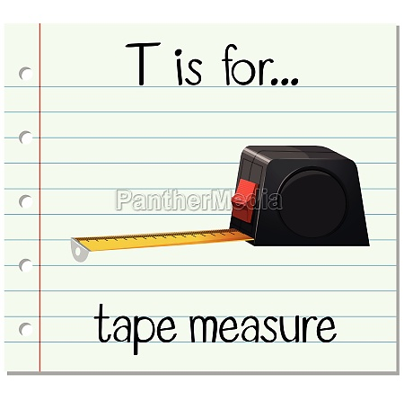 flashcard letter t is for tape
