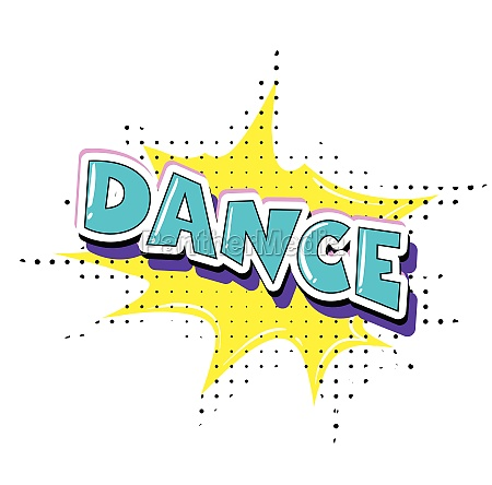 fun dance retro text