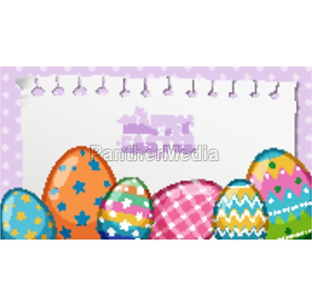 poster design for easter with painted