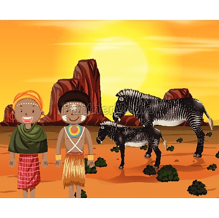 ethnic people of african tribes in