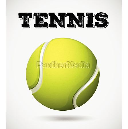 single tennis ball with text