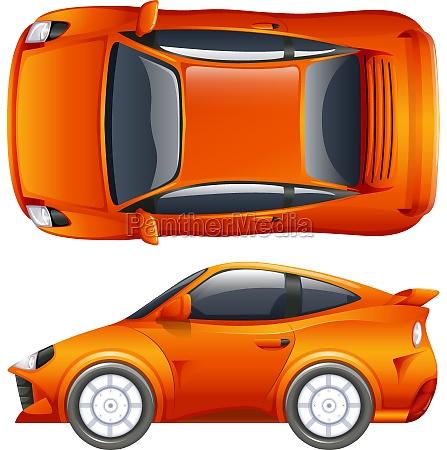 an orange vehicle