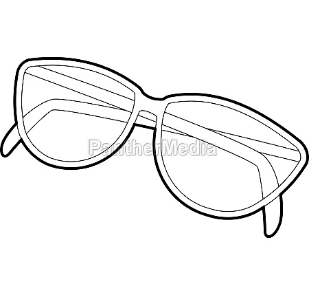 sunglasses icon isometric 3d style