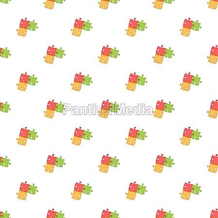 three puzzle pattern cartoon style