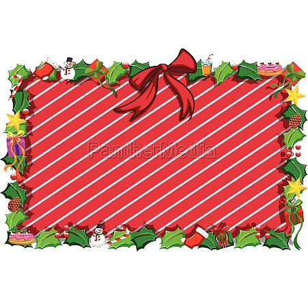 border template with christmas elements