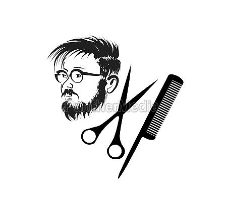 vintage man with beard