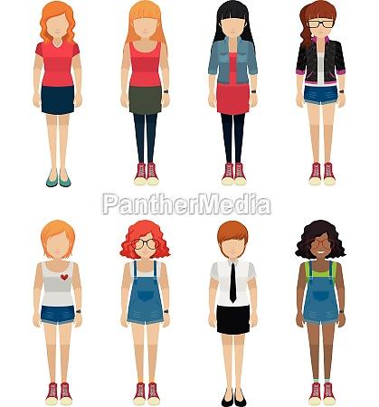 faceless teenagers