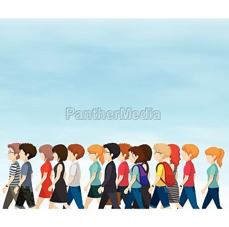 group of people walking at daytime