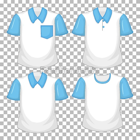 set of different shirts with blue
