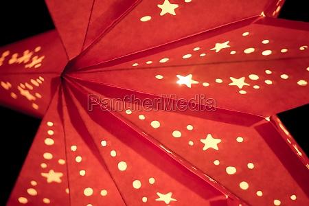 colorful red xmas lantern star at
