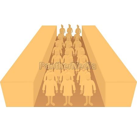 terracotta army icon cartoon style