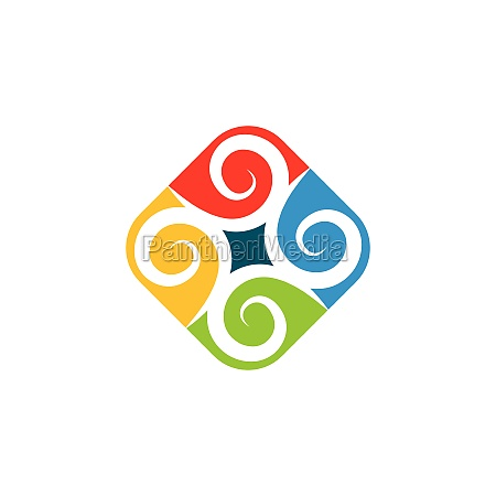 vortex wind logo icon wave