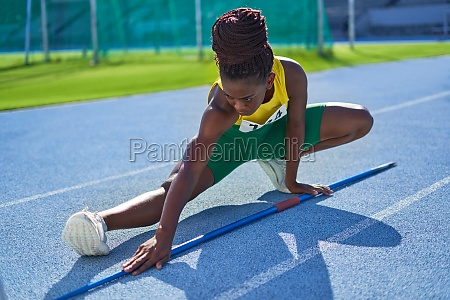 female track and field athlete with