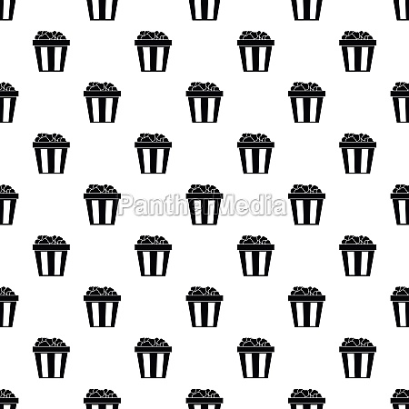 box of popcorn pattern simple style